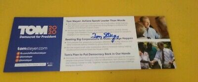 Andrew Yang Autographed Official Campaign Brochure Literature 2020 Candidate