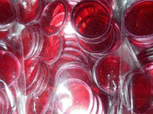 100, 200, 300 SELECT YOUR OWN RED METALLIC RIMMED  REPLACEMENT BINGO CHIPS