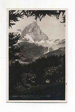 Cartolina VALTOURNANCHE CERVINO Dal Breuil e Lago Bleu Anni 30 Postcard Brunner