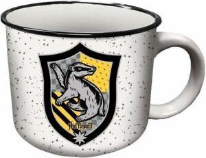 Harry Potter Hufflepuff Crest Ceramic Campers Coffee Mug