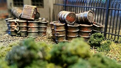 Two High Detailed Barrels Pile Up Resin Casting By R&m Suit Ho Oo Gauge