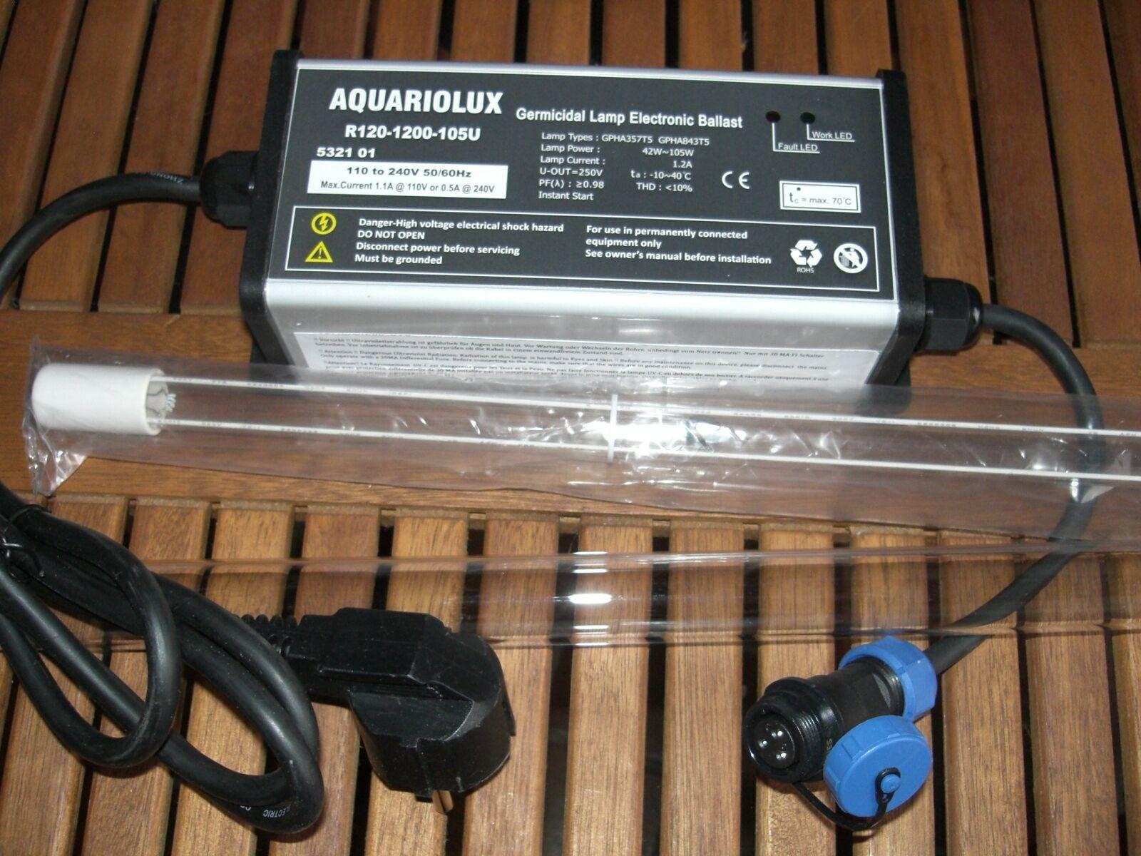 Rota 105 Watt UVC Montageset Amalgam UVC Strahler Tauch Pumpe