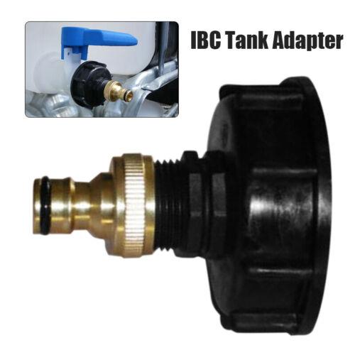 "IBC Tank adapter S60X6 Coarse Threaded with 3//4/"" BSP Brass Hose Lock Adaptor"