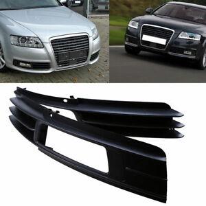 AUDI A6 2008-2011 C6 Front Bumper Chrome Trims Moldings PAIR LEFT+RIGHT 09 10