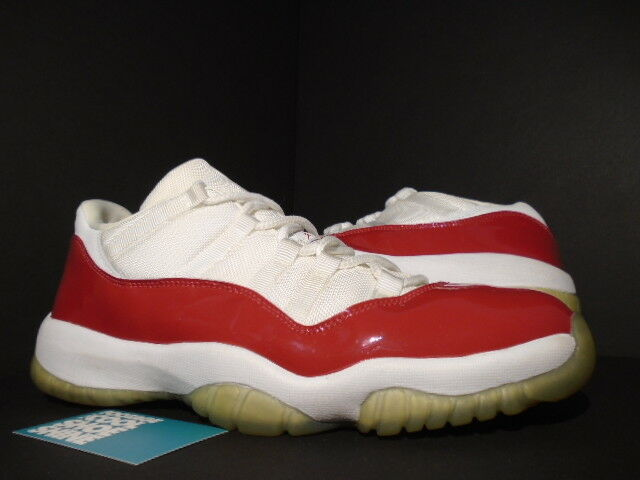 2001 11 Nike Air Jordan XI 11 2001 Retro Low CHERRY CHICAGO WHITE VARSITY RED PATENT 12 7bddcf