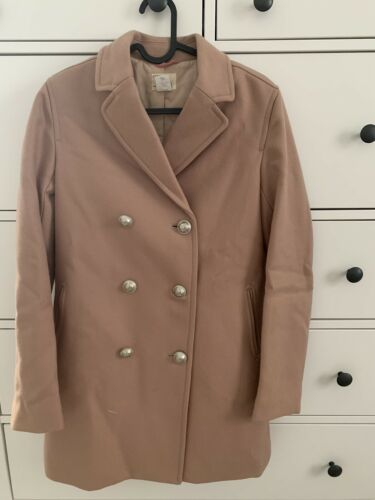 light pink trench coat with buttons