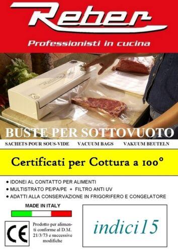 Buste Sacchetti Goffrati 100pz 20x30 3 strati Accessori Sottovuoto ® Reber