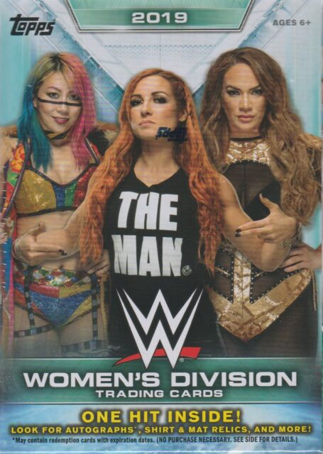 2019 Topps WWE WOMEN'S DIVISION Wrestling Trading Cards 71c Retail BLASTER Box
