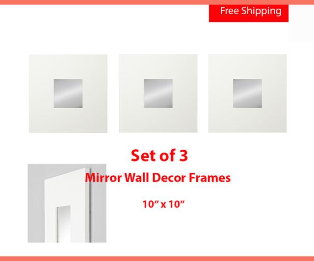 IKEA Malma Modern Art Wall Mirror Square White 10x10 (015) | eBay