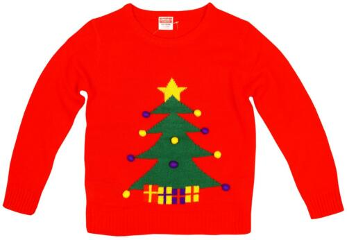 Boys Girls Xmas Rudolph Reindeer Santa Claus Christmas Unisex Jumper 2-6 Years