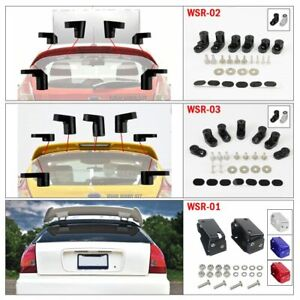 Color : Black Car spoiler T-6061 Anodized Aluminum Bolt-on Rear Wing Spoiler Hatch Riser Lift Extension For 14-on Fit For Ford Fiesta ST
