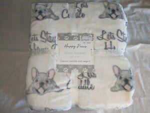 Happy-Paws-Plush-Blanket-90-034-x-90-034-New