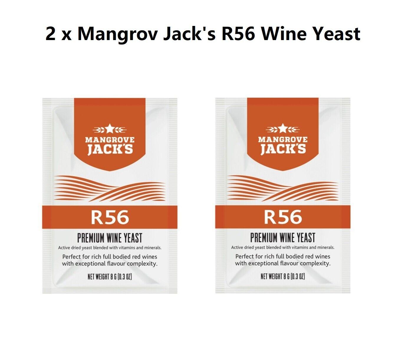 2 x Mangrov Jack's R56 Premium Red Wine Yeast