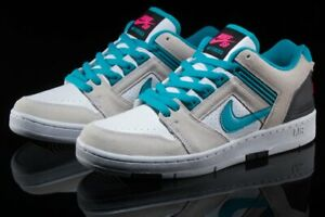 Details about NIKE SB AIR FORCE II 2 LOW WHITE TEAL NEBULA BLACK MENS TRAINERS SHOES