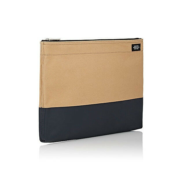 Brand New Jack Spade Dipped Industrial Canvas Bankers Envelope Khaki/Navy