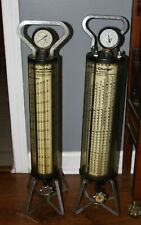 Robinair Dial A Charge Refrigerant Charging Cylinders Vintage Steampunk Estate