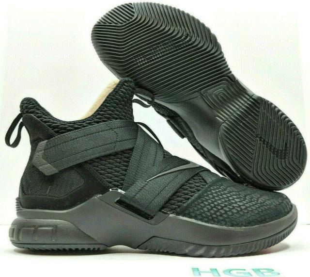 low priced 99f3b 8b61b Nike Lebron Soldier 12 XII SFG Triple Black Basketball Zero Dark AO4054-003  NIB