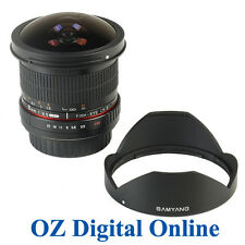 New Samyang AE 8mm f/3.5 Fish-eye CS II w/hood for Nikon 1 Yr Au Wty