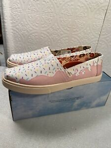 NEW-TOMS-X-Randy-039-s-Donuts-Women-039-s-Alpargata-Espadrille-in-Sprinkles-Size-9