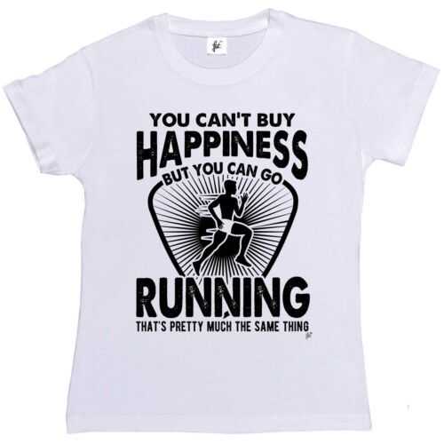 You Can/'t Buy Happiness But You Can Go Running Womens Boyfriend Fit T-Shirt