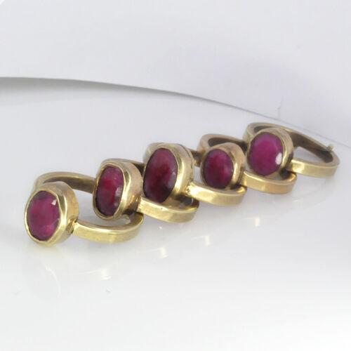 Multiple Gems Ring in Ashtadhatu Astrological Purpose Gem Ring Size Adjustable