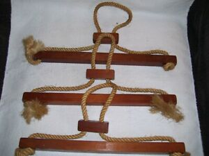 Details about 3 Vintage Colonial 18th Century Reenactor Handmade Wood/Rope  Clothing Hangers