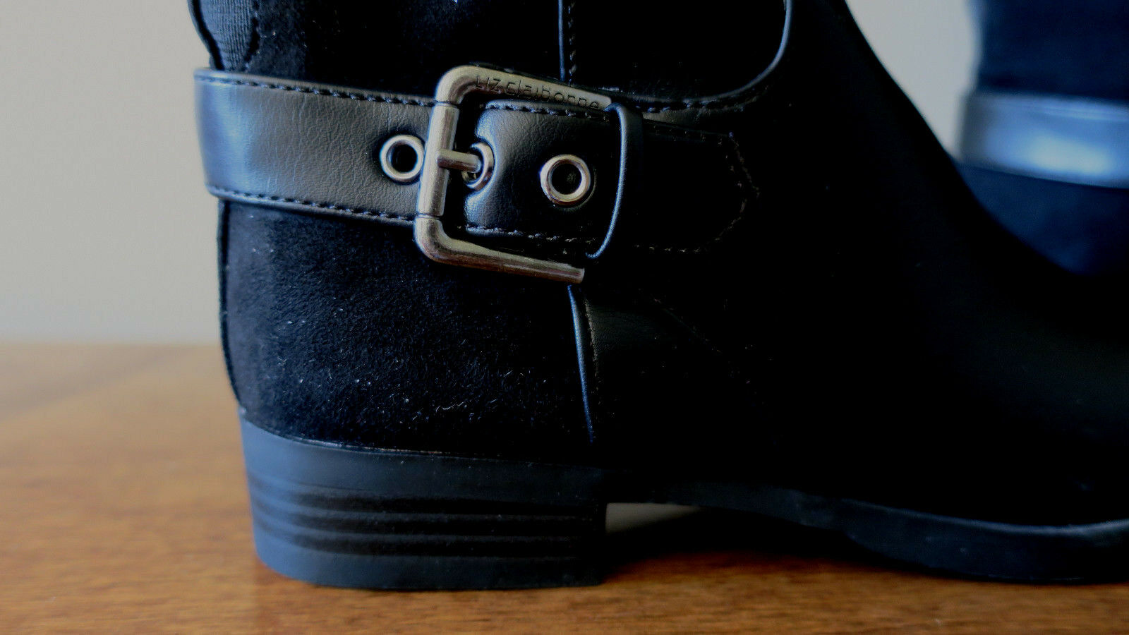 6f0b76325290 ... Liz Claiborne Dallas Women s Black Wide Wide Wide Calf Riding Boots  Size 5M NEW! b9af98 ...