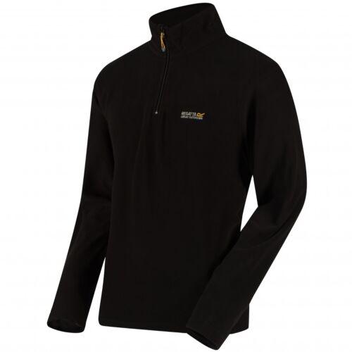 Regatta Thompson Base Layer Light Weight Micro Fleece Half Zip Quick Dry Jumper