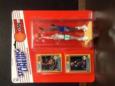 1989 Starting Lineup Basket, One On One , Kevin Mchale, Patrick Ewing, 97580 Materiali Superiori
