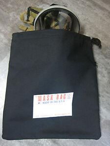 S.M. Smith Co. SCBA Mask Bag, MB2-200, 10 OZ Cotton Canvas W/ Fleece liner,Draw.
