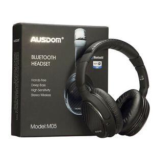 Ausdom M05 Bluetooth Stereo Headset Wireless +Wired Deep Bass Headphone Earphone