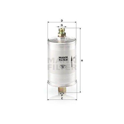 1 Kraftstofffilter MANN-FILTER WK 726 passend für PORSCHE FUCHS