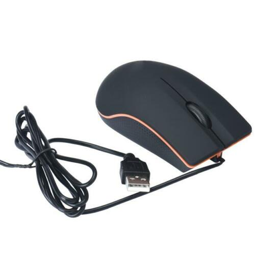 1200DPI 3 Buttons Optical USB LED Wired Game Mouse Mice For PC Laptop Computer A