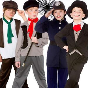 Bambini Costume ragazzi Tudor Boy Costume LIBRO giorno S M /& L 1st Class Postage