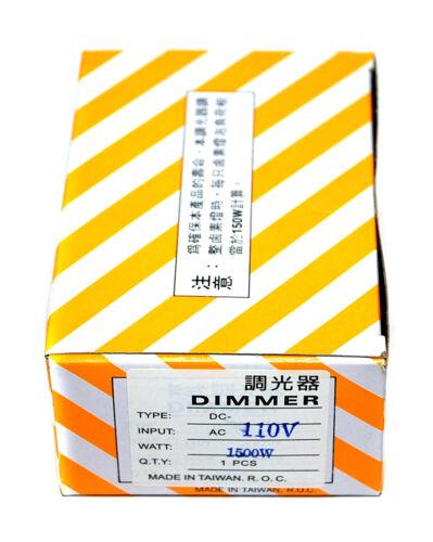1pc Lighting Control Dimmer DC-150 AC200-240V 50-60Hz 1500W Resistance Load