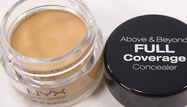 NYX Concealer CJ4 BEIGE Full Coverage Above & Beyond new makeup cream based