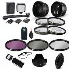 PRO ACCESSORY KIT + LED VIDEO LIGHT FOR NIKON D3400 D5600  DSLR FAST 2-3 DAY SHI