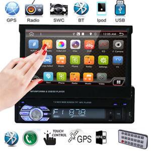 7-034-Touch-Screen-Singel-Din-Car-MP5-Player-Radio-Stereo-GPS-Sat-Nav-8G-Map-Card