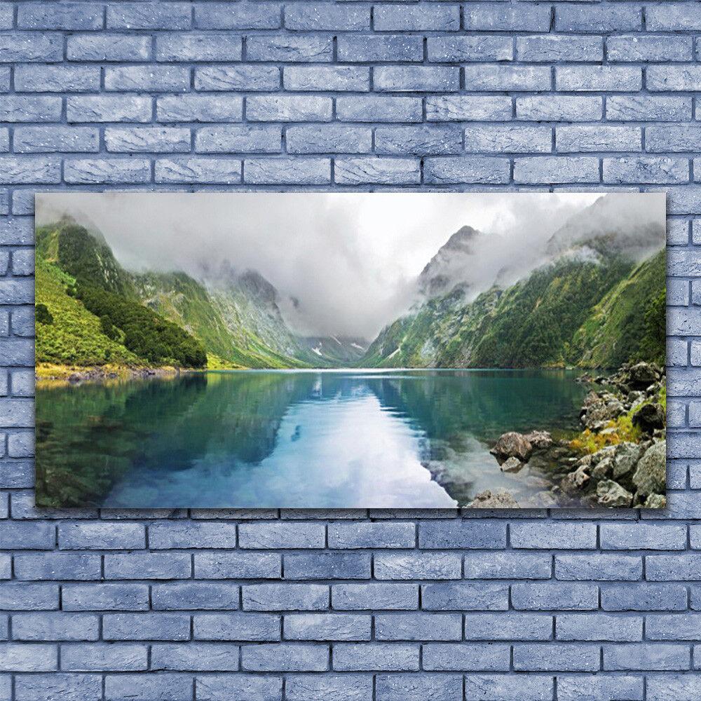 Immagini di vetro Muro Muro Muro Immagine Stampa su vetro 140x70 montagne paesaggio lago 0e9d52