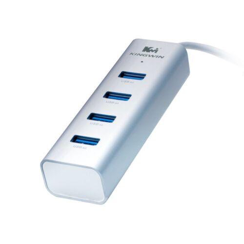 Kingwin KWZ-400 Aluminum 4-Port USB 3.0 Hub