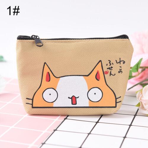 Cat Coin Purses Women Wallets Cute Animal Card Holder Key Bag Money Bags 0cn
