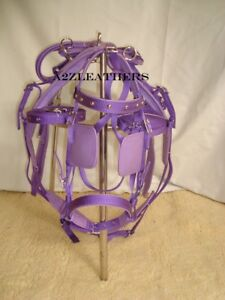 Exclusive-Purple-Synthetic-Nylon-Driving-harness-for-single-Horse-cart-in-4-size