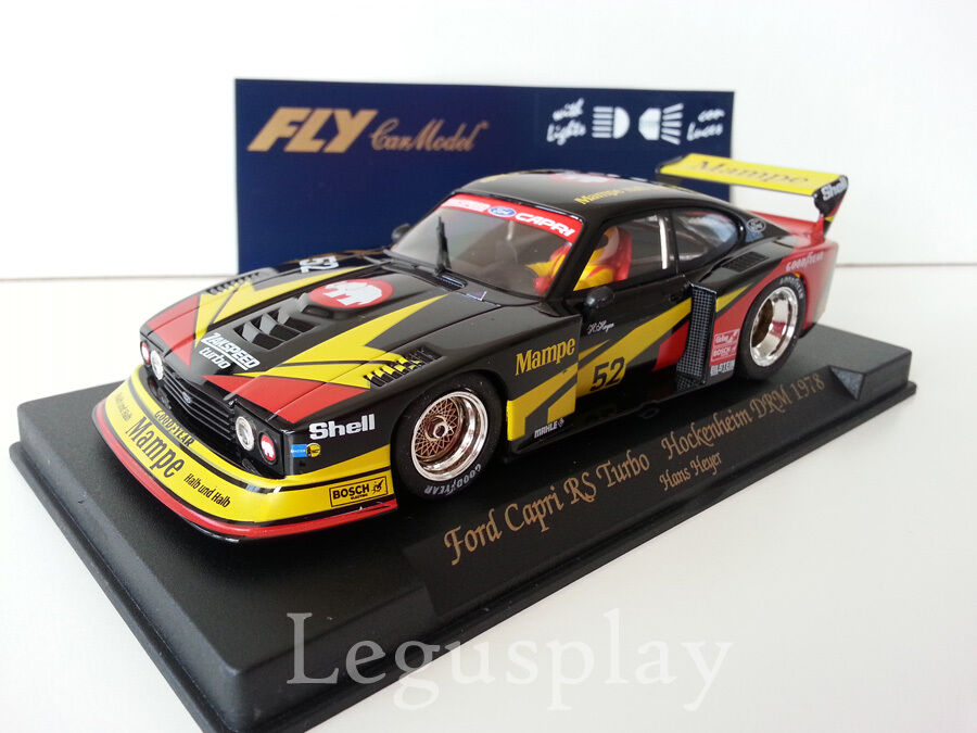 Slot Coche SCX Scalextric Fly A144L Ford Capri RS Turbo Hockenheim DRM '78 H.Heyer