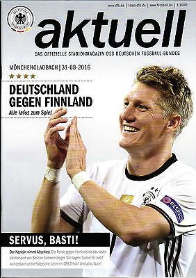 Finnland Länderspiel 31.08.2016 Deutschland Poster Bastian Schweinsteiger