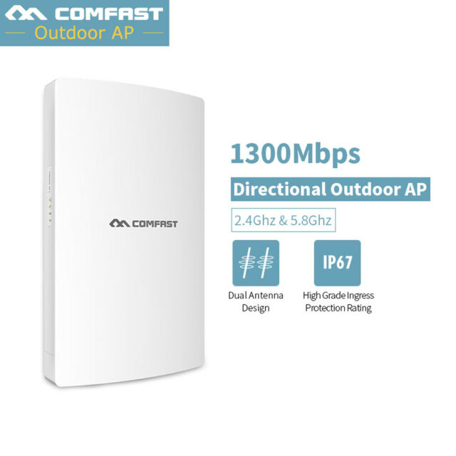 COMFAST Wireless WiFi AP Access Point 1300Mbps Range Router Extender PoE Outdoor
