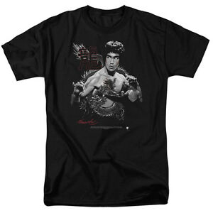 Bruce-Lee-Red-and-Black-Dragon-T-Shirt-Sizes-S-3XL