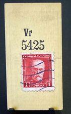 Cigarette Card Godfrey Phillips Ltd Stamps Checkoslovakia 1 Koruna Red VGC 86