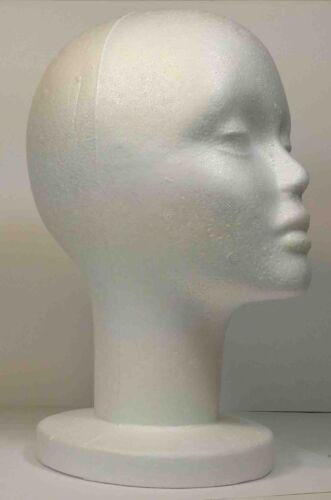 "WIG FEMALE STYROFOAM HEAD FOAM MANNEQUIN DISPLAY 12/"" 2PCS"
