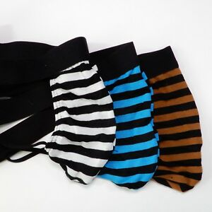 K522C-Mens-String-Thong-T-back-Pouch-Striped-Poly-Cotton-Spandex-Jersey