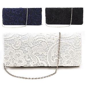 Mode-Damentasche-Abendtasche-Clutch-Tasche-Spitze-Brauttasche-Handtasche-Neu